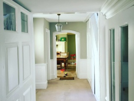 Decorating of hallway house in kent