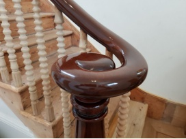 French polishing of bannisters in kent