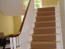 French polishing staircase house in Kent