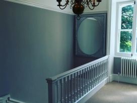 Interior decoration of landing and bannister