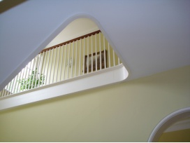 Painting and decorating of stairwell