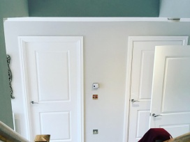 Painting of doors and hallway
